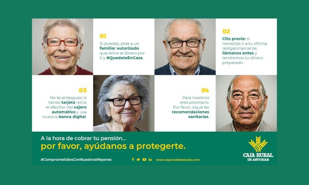 Campaña: «A la hora de cobrar tu pensión. Por favor, ayúdanos a protegerte/los»