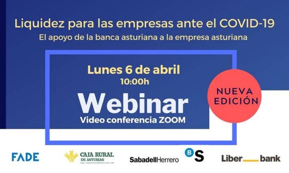Webminar: Liquidez para las empresas ante el COVID-19, y el apoyo de la banca asturiana a la empresa asturiana