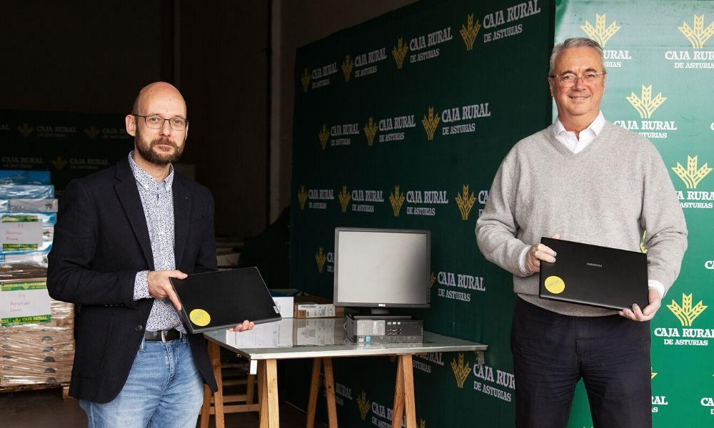 La Fundación Caja Rural de Asturias dona 250 equipos informáticos para el alumnado sin recursos tecnológicos