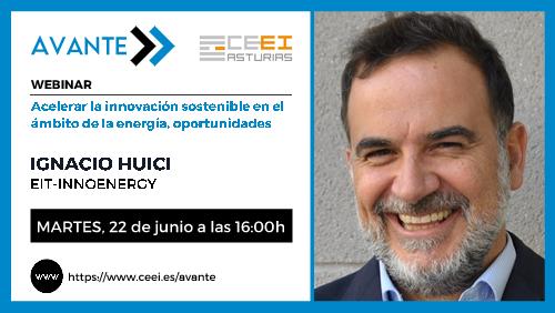 22 de junio de 2021 Webinar «Acelerar la innovación sostenible en el ámbito de la energía (AVANTE)»